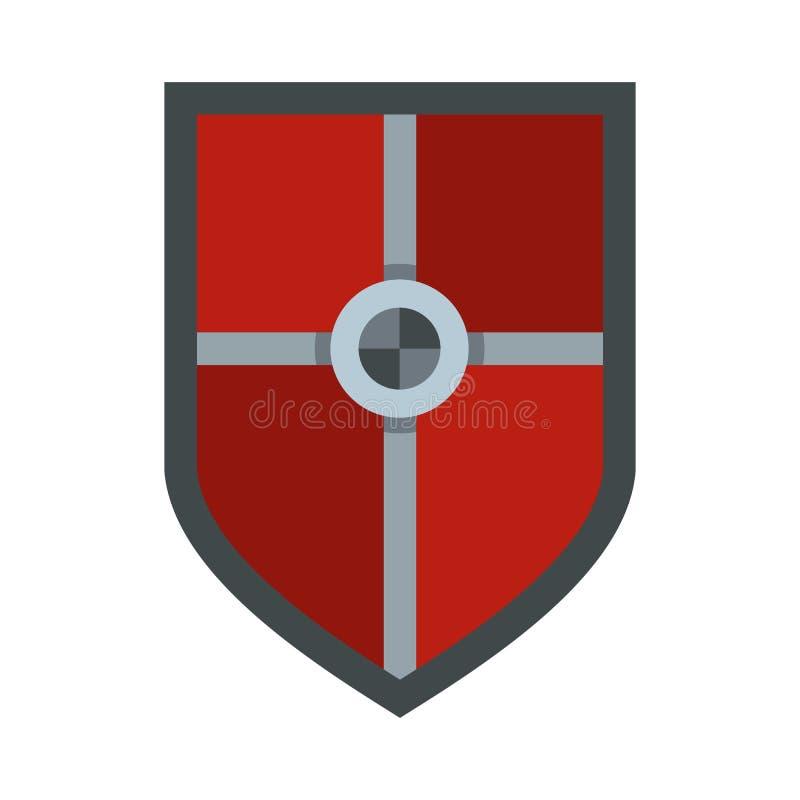 Escudo para el icono de la lucha, estilo plano libre illustration