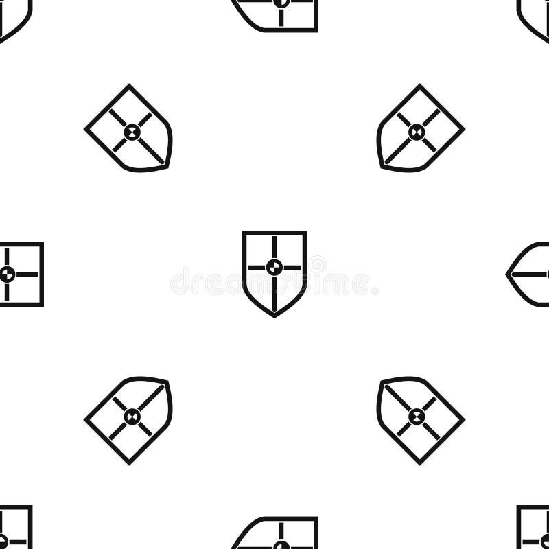 Escudo para el negro inconsútil del modelo de la lucha ilustración del vector
