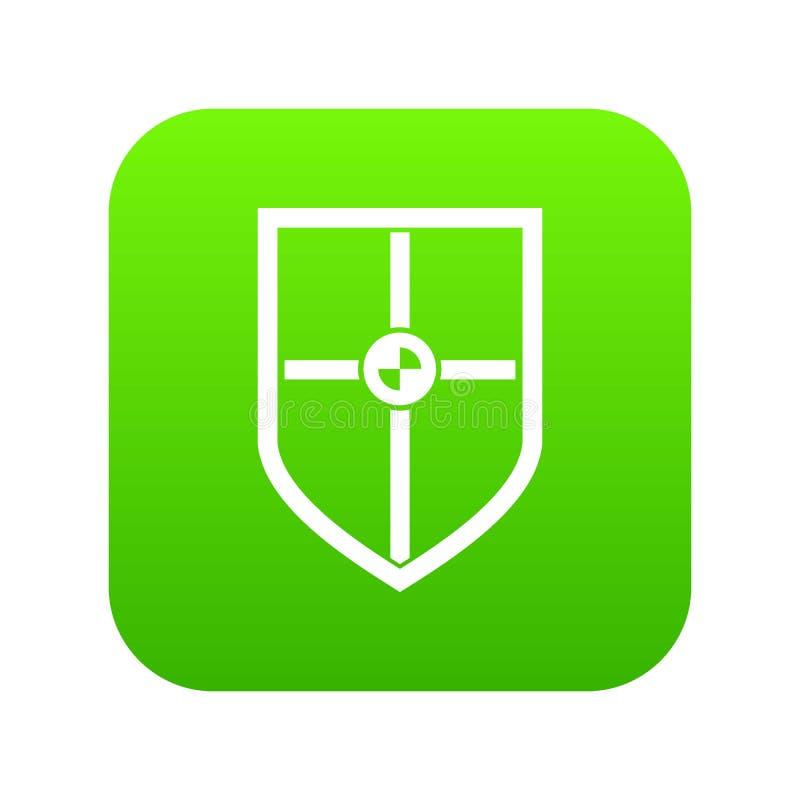 Escudo para el verde digital del icono de la lucha libre illustration