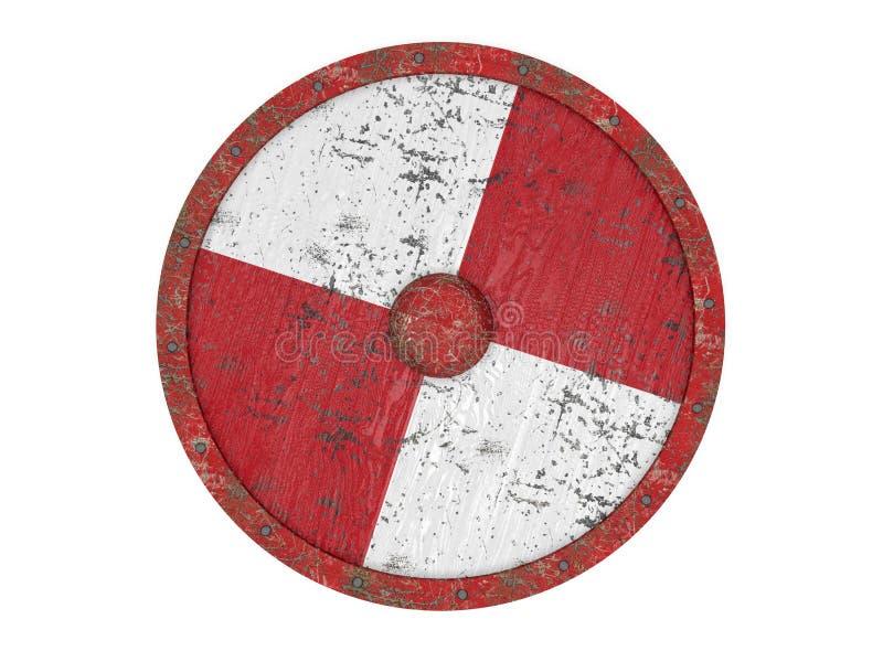 Escudo redondo viejo ilustración del vector