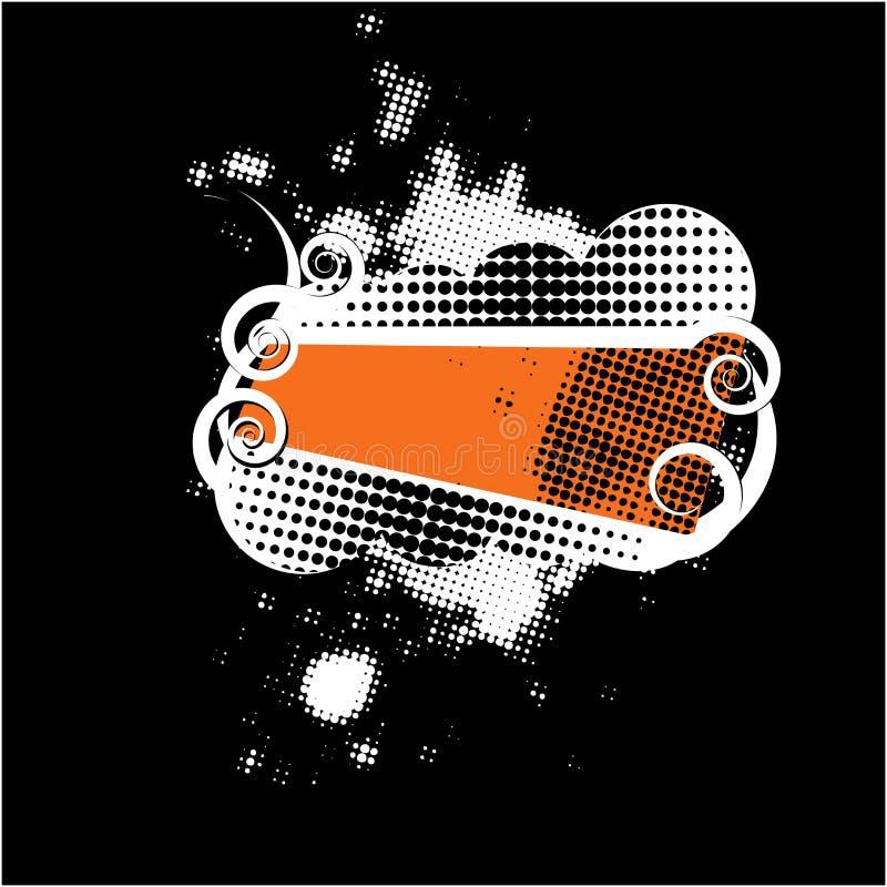 Escudo retro del Grunge ilustración del vector