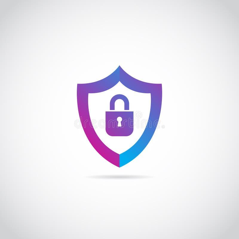Escudo seguro Logo Sign Symbol Icon de Internet stock de ilustración