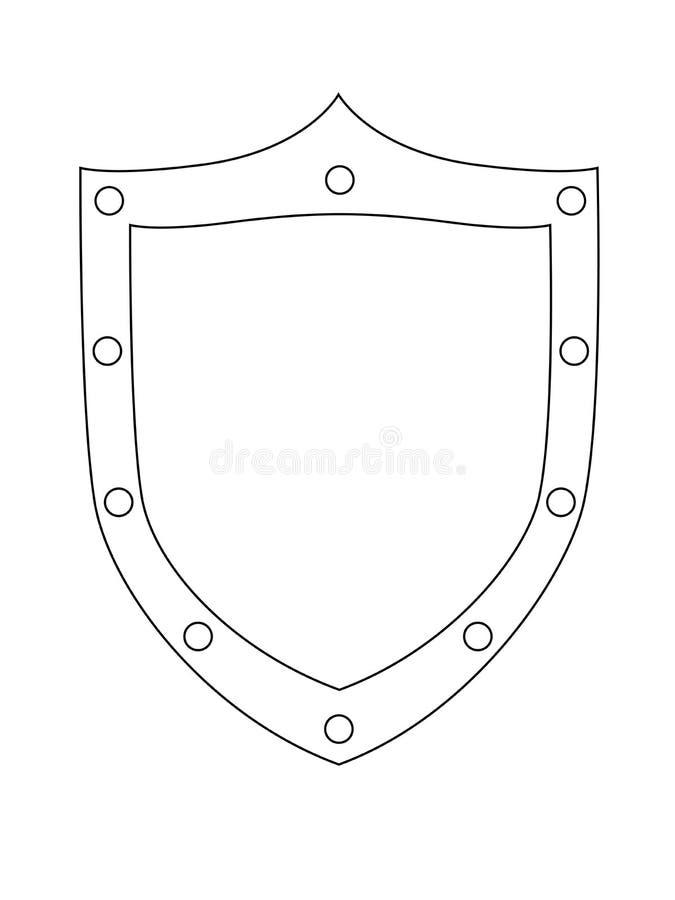 Imagen De Un Escudo Que Representa La Cruz Cristiana Modelo