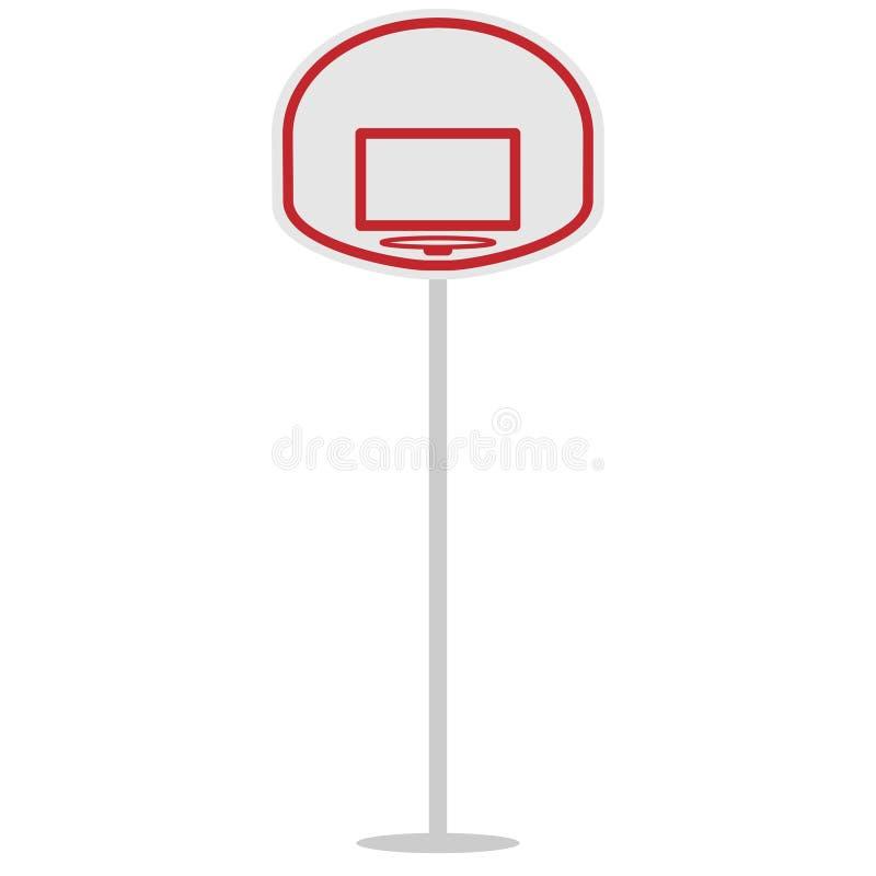 Escudo y anillo de la cesta para el baloncesto ilustración del vector