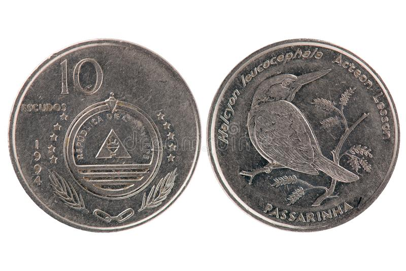 10 Escudos Coin from Cape Verde stock image