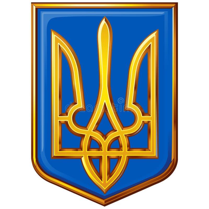 Escudos de armas Ucrania fotografía de archivo