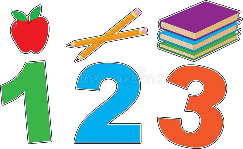 Escuela 123 ilustración del vector
