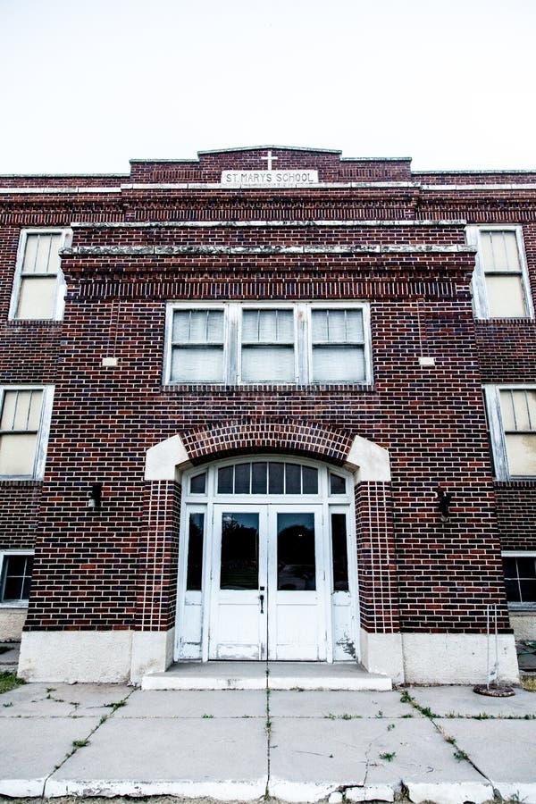 Escuela abandonada fotos de archivo libres de regalías
