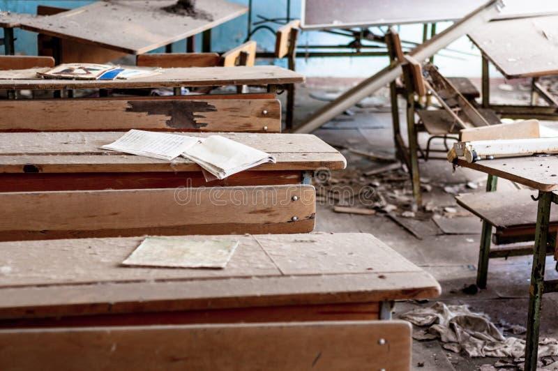 Escuela abandonada en Chernobyl imágenes de archivo libres de regalías