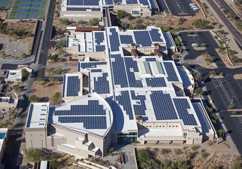 Escuela accionada solar imágenes de archivo libres de regalías