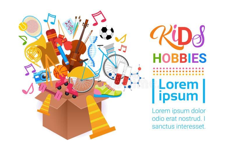 Escuela artística de Art Classes Logo Workshop Creative de las aficiones de los niños para la bandera del desarrollo de niños stock de ilustración