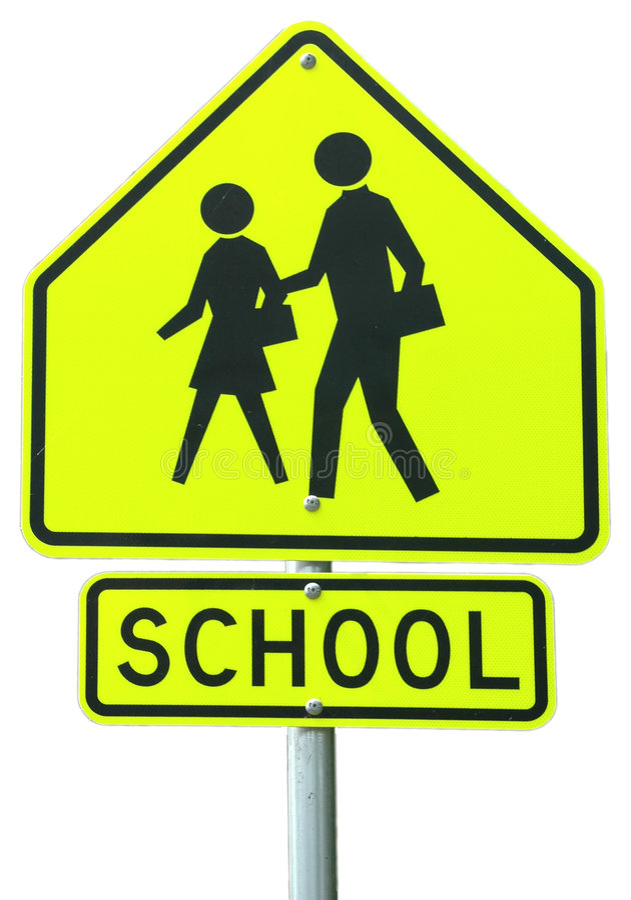 Escuela a continuación foto de archivo