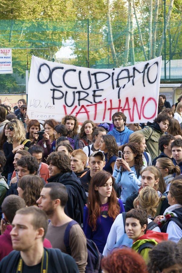 Escuela de la huelga en Roma imágenes de archivo libres de regalías