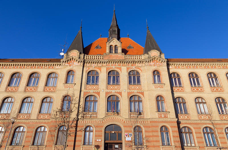 Escuela de la ingeniería industrial, Bratislava, Eslovaquia foto de archivo