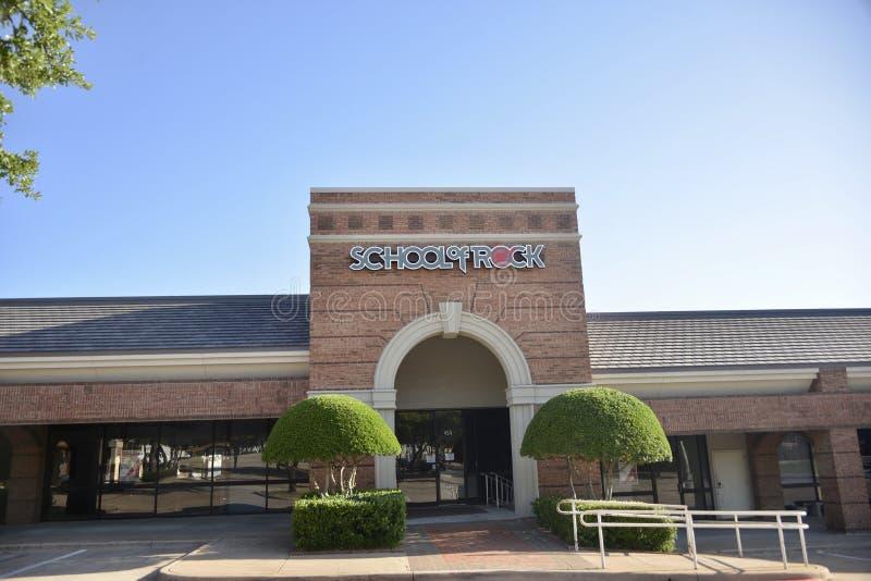 Escuela de la roca, Fort Worth, Tejas imagenes de archivo