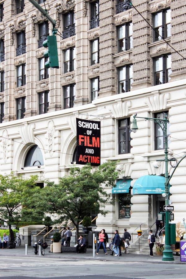 """Escuela del †de la academia de la película de Nueva York """"de la película y del edificio de actuación de NYFA fotos de archivo"""