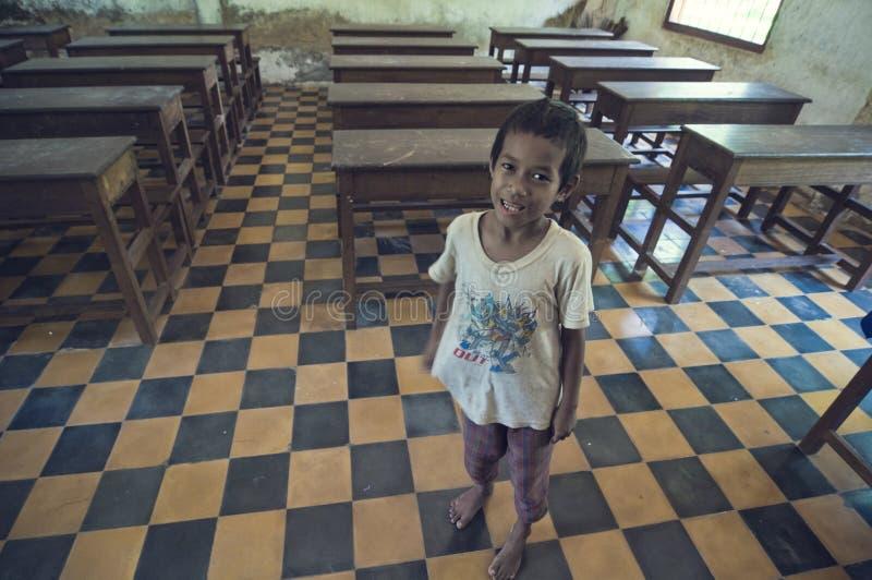 Escuela en Camboya foto de archivo