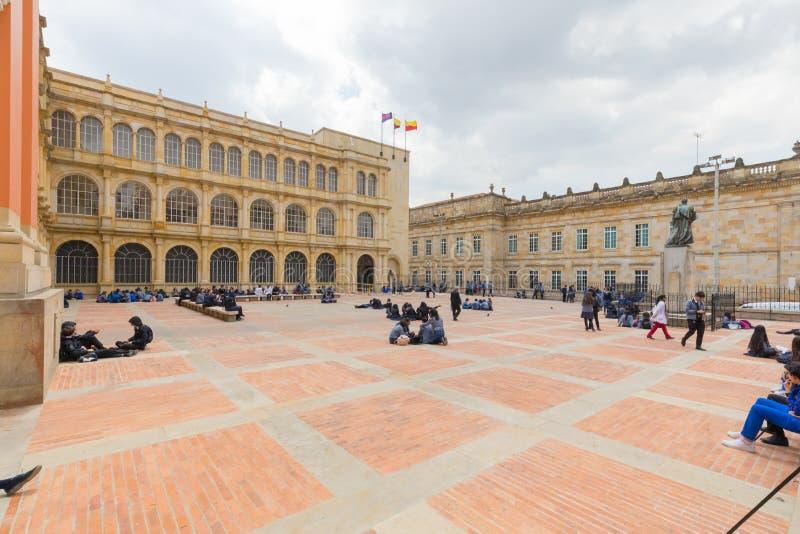 Escuela secundaria de Bogotá del distrito de San Bartolome Candelaria fotografía de archivo libre de regalías