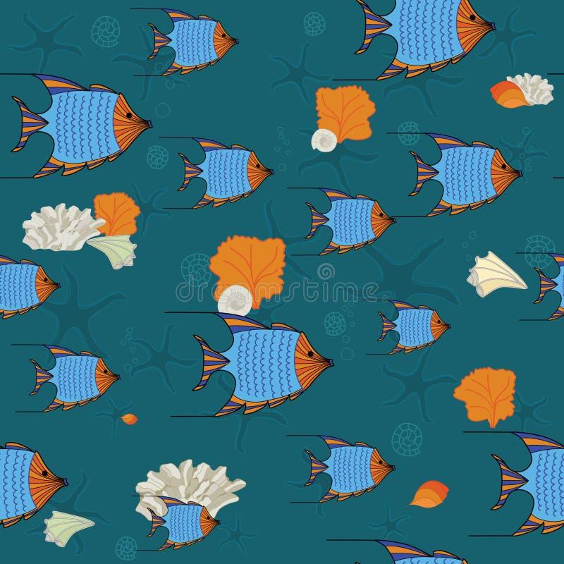 Escuela subacuática del océano de pescados libre illustration
