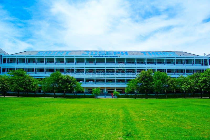 escuela verde HDR foto de archivo