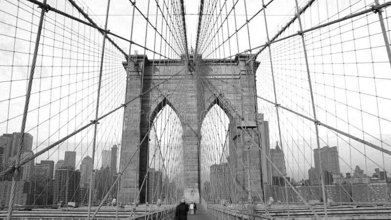 Escuela vieja del puente de Brooklyn imagen de archivo