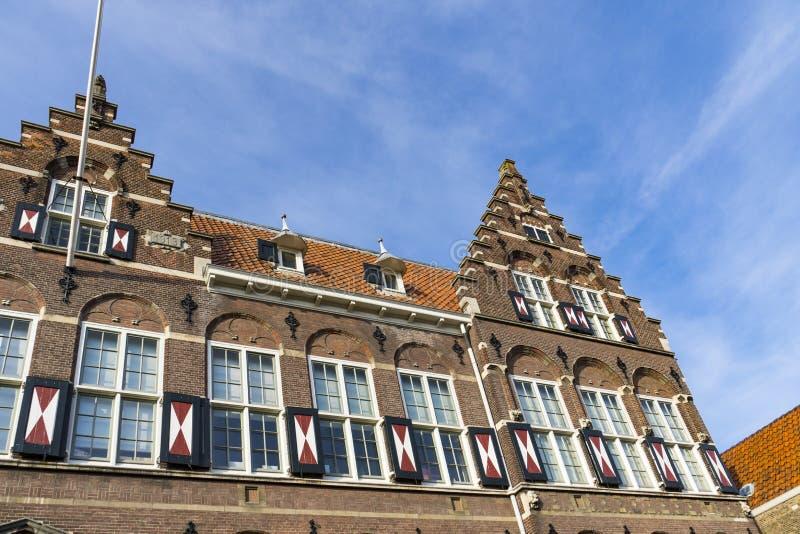 Escuela vieja en Hofstraat Dordrecht, los Países Bajos fotografía de archivo