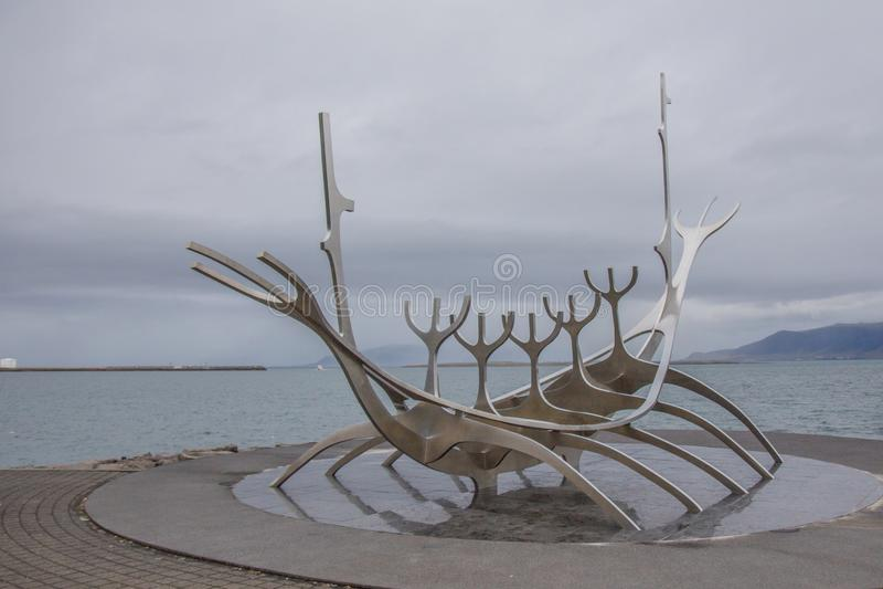 Esculpture de paysage de l'Islande photo stock