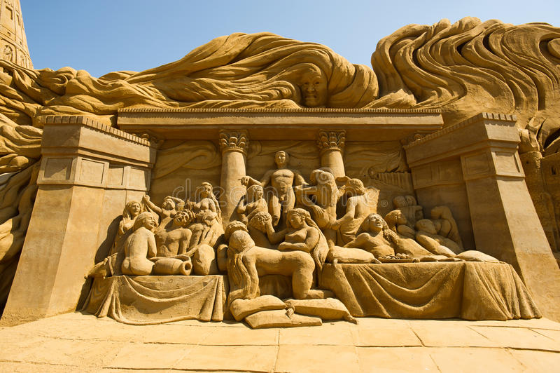 Escultor da areia fotografia de stock royalty free