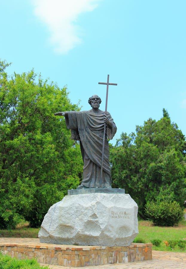 Escultura al santo de Andrew del apóstol Primero-llamado imágenes de archivo libres de regalías