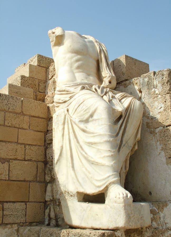 Escultura antiga de Caesar fotografia de stock