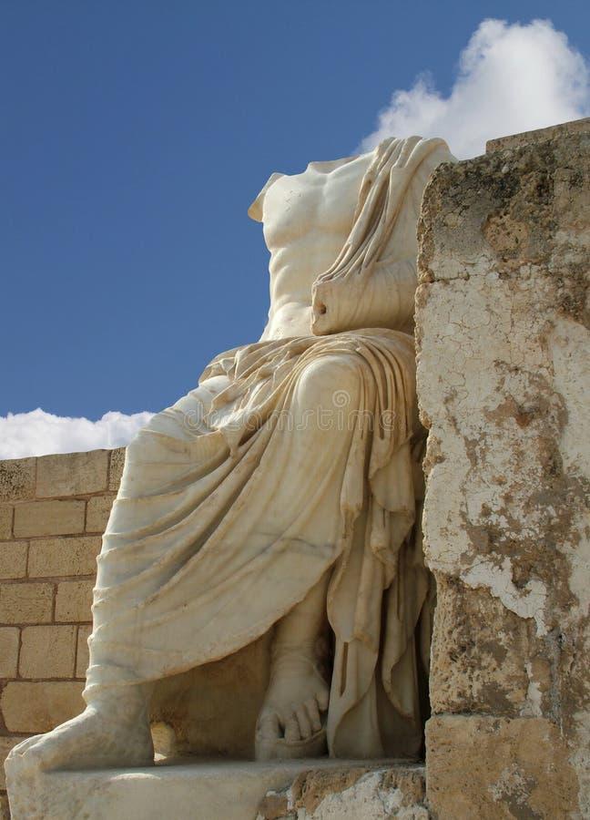 Escultura antiga de Caesar imagens de stock