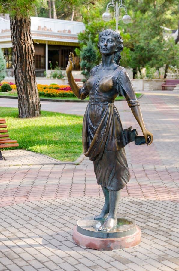 Escultura & x22; Assol& x22; no passeio de Gelendzhik imagens de stock