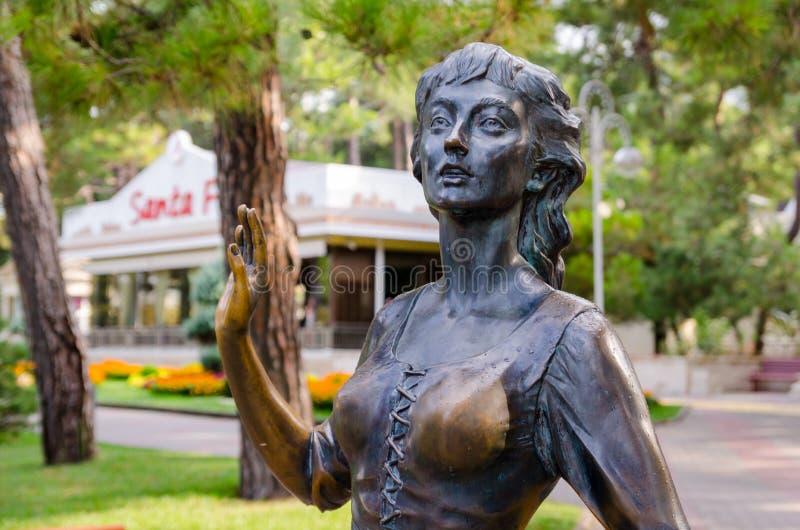 Escultura & x22; Assol& x22; no passeio de Gelendzhik imagem de stock royalty free
