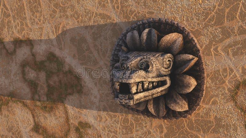 Escultura Azteca Imagenes de archivo