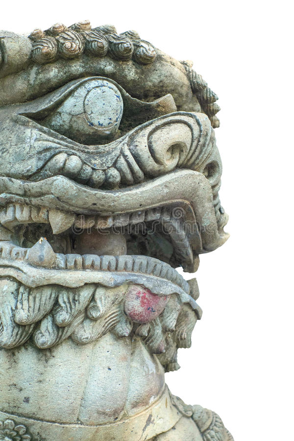 Escultura china aislada fotos de archivo