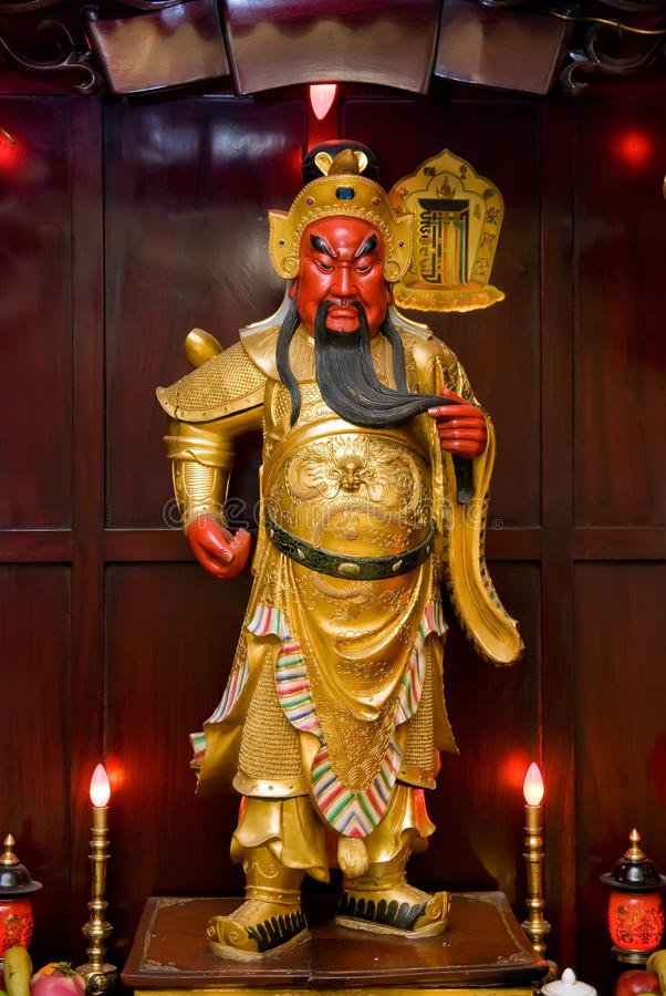 Escultura china de Guan Yu imágenes de archivo libres de regalías