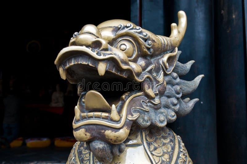 Escultura chinesa do dragão foto de stock