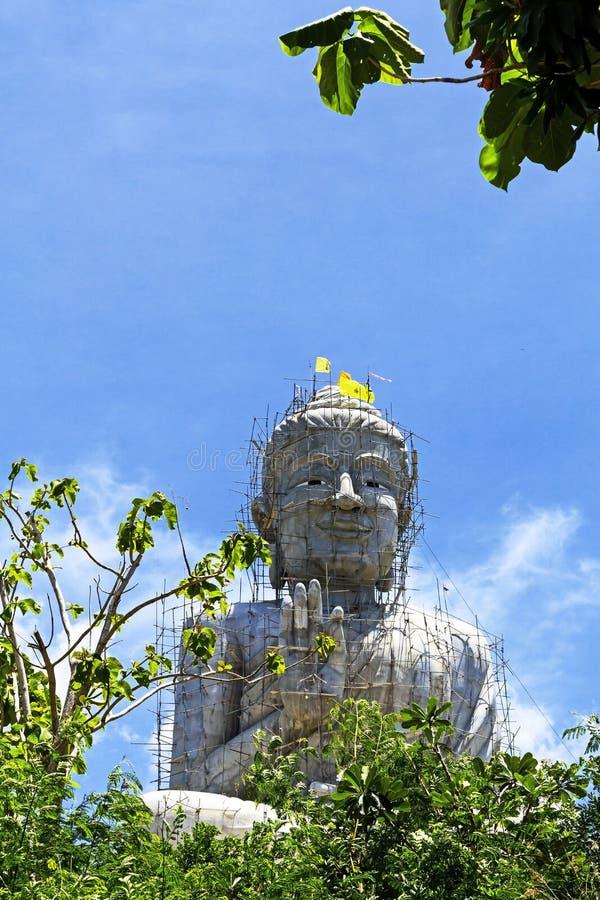 Escultura cinzenta buddha foto de stock royalty free