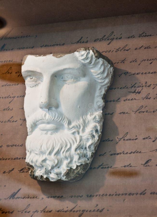 Escultura clásica de la cara fotografía de archivo