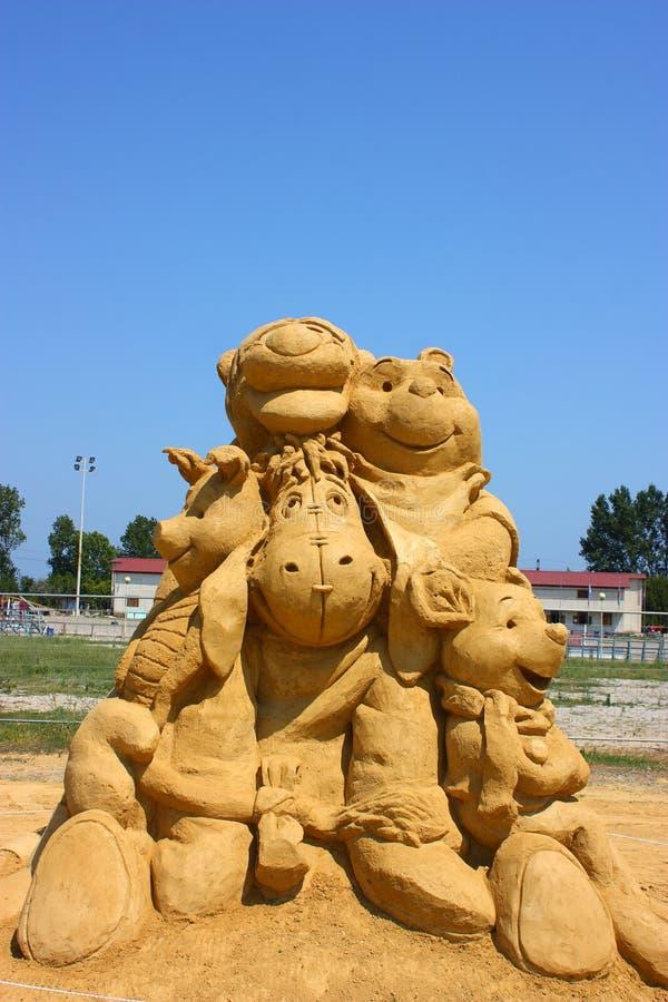 Escultura da areia de   fotos de stock