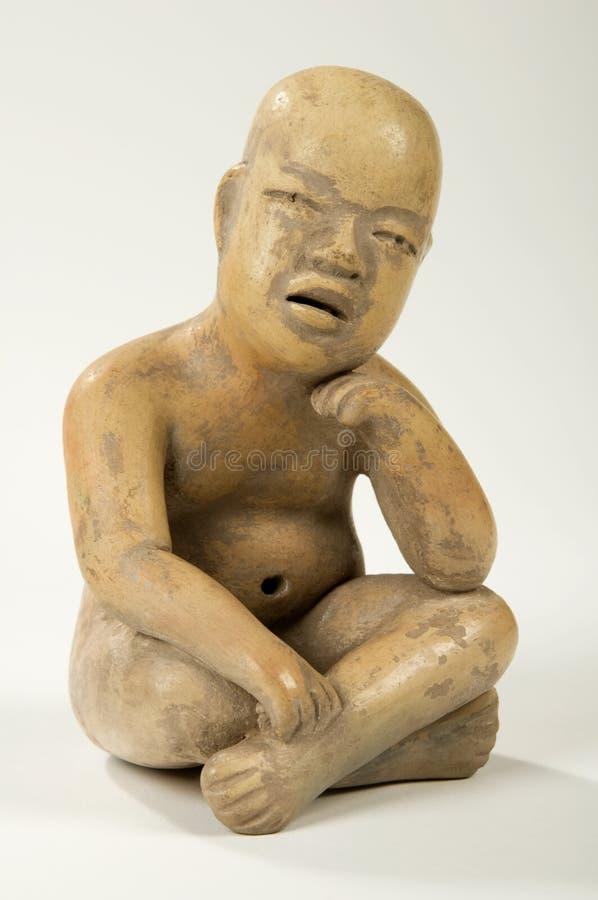 Escultura da argila de Olmec fotos de stock royalty free