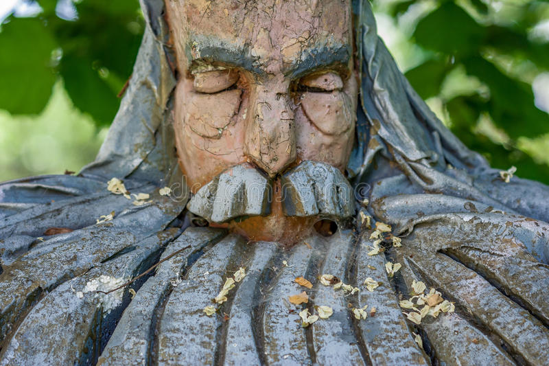 Escultura da cara fotografia de stock royalty free