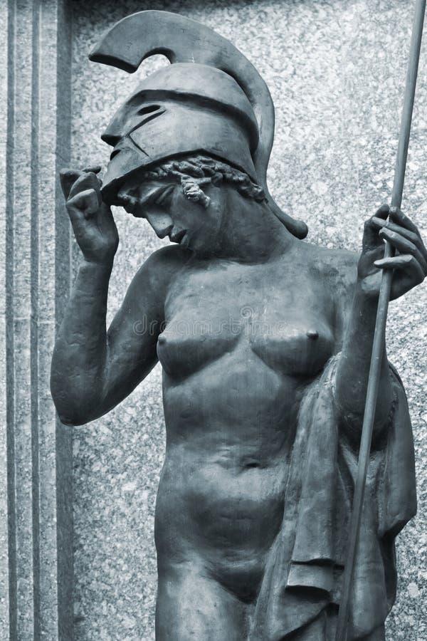 Escultura da deusa Athena imagens de stock