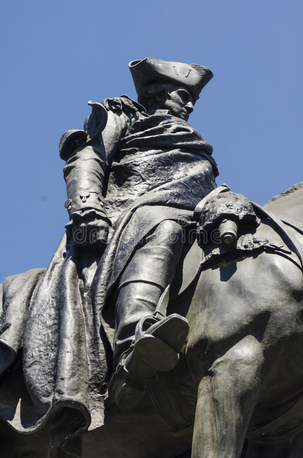 Escultura da estátua de George Washington imagem de stock royalty free