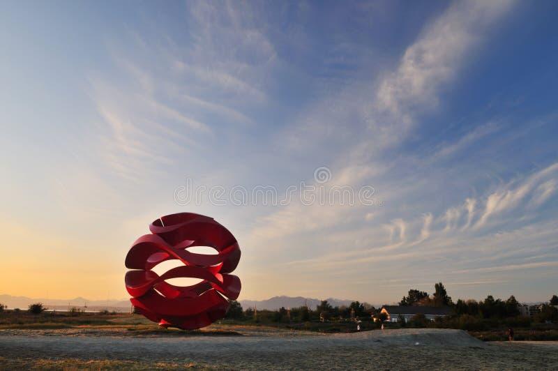 Escultura da onda de vento no parque do ponto de Garry, Richmond foto de stock royalty free