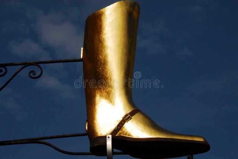 Escultura da propaganda da bota de equitação de França imagens de stock royalty free