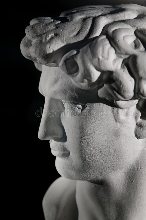 Escultura da réplica de David imagens de stock royalty free