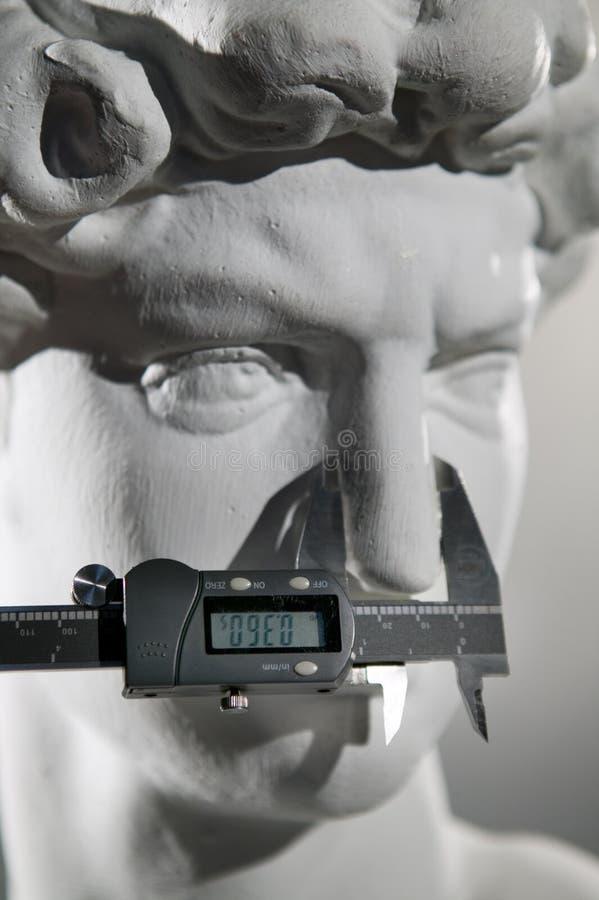 Escultura da réplica de David fotos de stock