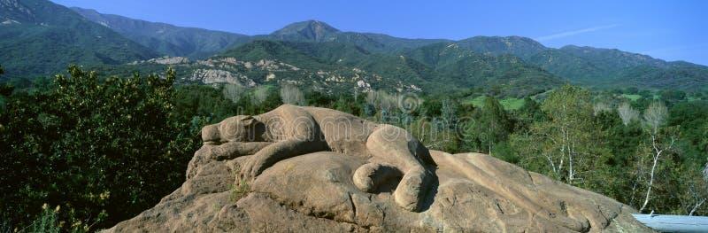Escultura da rocha do leão, foto de stock royalty free