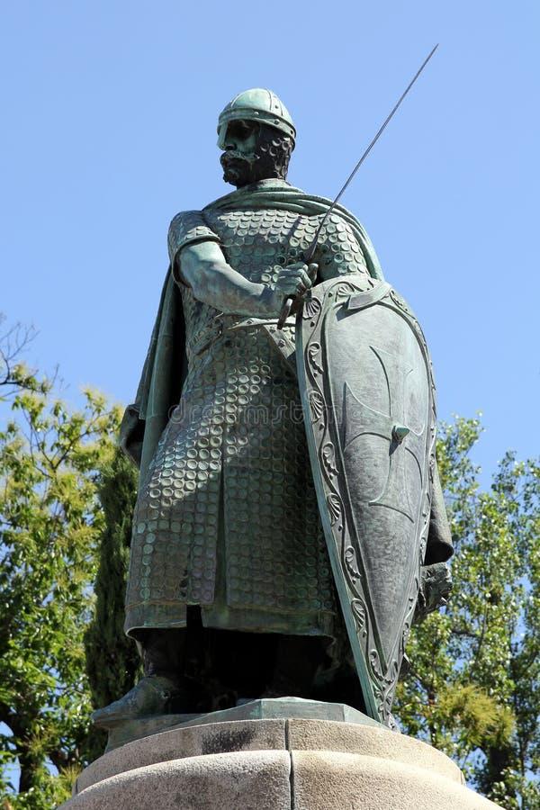 Escultura de Afonso Henriques imagem de stock